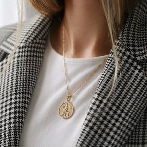 Virgin Mary Necklace | 18k Gold Filled